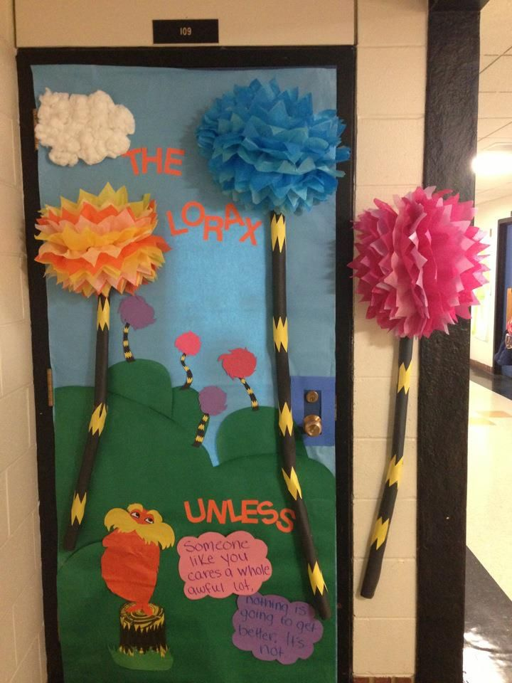 The Lorax themed door I created for Read Across America/Dr