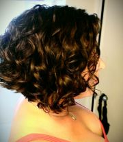 short curly inverted bob hair