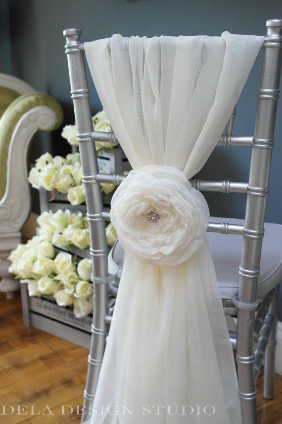 Wedding 7 Fabric Flower  Cloud Rose  Wedding Chair
