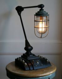 (via Vtg Antique Industrial Steampunk Desk Lamp Upcycled ...