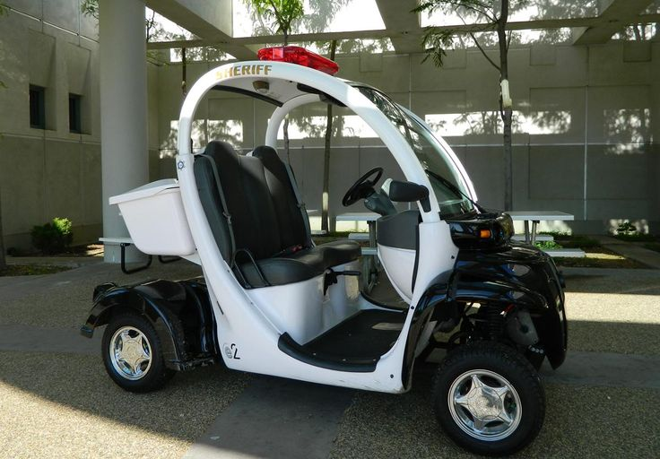 Police 3 Wheel Electric Carts