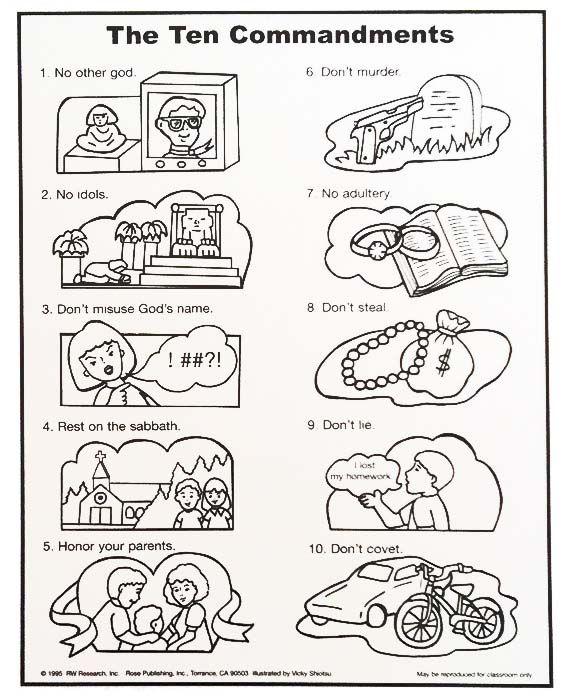 25+ best ideas about 10 Commandments Kids on Pinterest