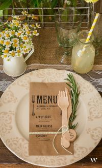 1000+ ideas about Rustic Table Settings on Pinterest