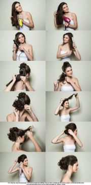 bridal hairstyle step