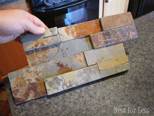 Backsplash from Lowes, $25 a box…love this stuff!  I've been looking at this for my next project.