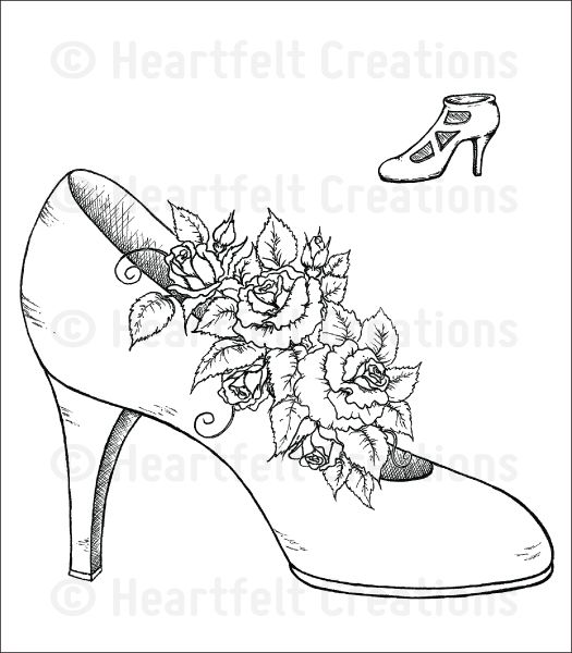 Crafting Cinderella Drawings Cinderella Shoe Drawings