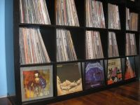 Vinyl record shelves that are wide and deep enough to ...