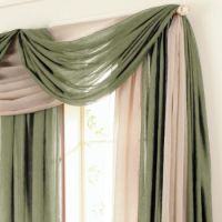 12 best images about Ways to hang a scarf valance on ...