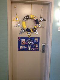 US Navy PIR (boot camp graduation) hotel room door ...