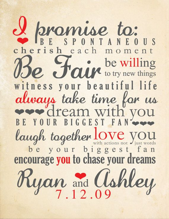 wedding vows typography by bisforbrown on etsy  i do