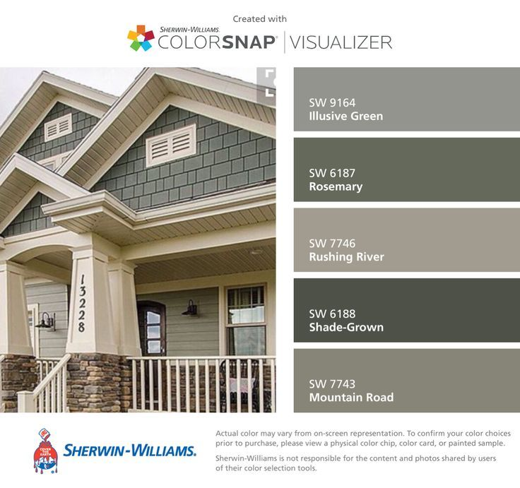 I Found These Colors With ColorSnap Visualizer For IPhone By Sherwin Williams Illusive Green
