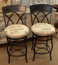Counter Height Swivel Wrought Iron Bar Stools w Feed Seed ...