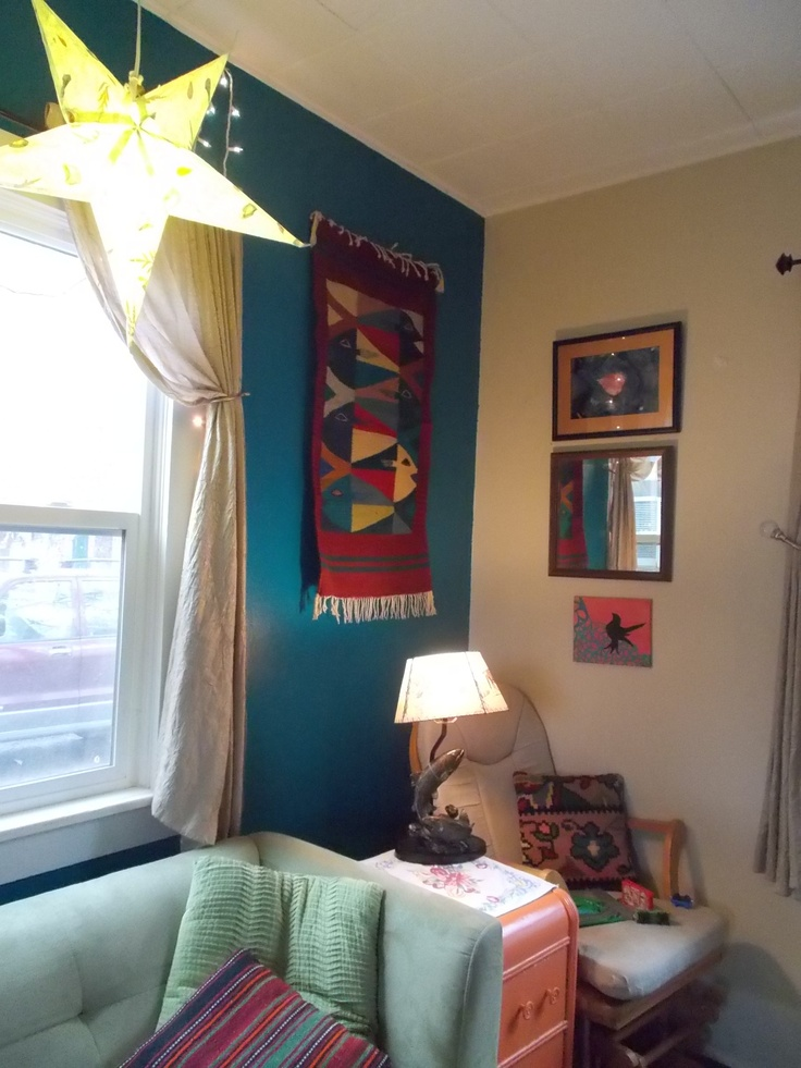 Deep turquoise accent wall  My Actual Home  Pinterest
