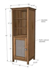 Tall Wood Storage Cabinet Plans - WoodWorking Projects & Plans