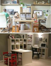 3 Easy ways for an office and playroom combo via ...