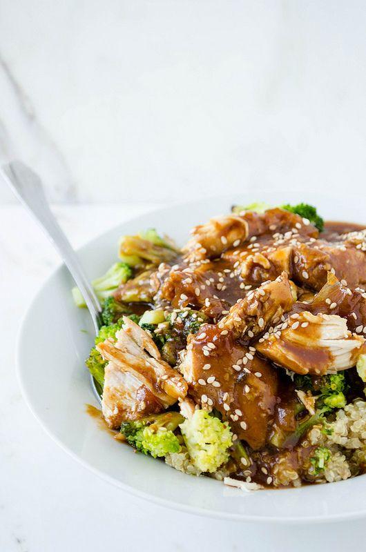 Slow Cooker Sesame Garlic Chicken | cooking ala mel: