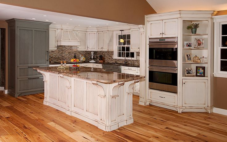 distressed white kitchen cabinets  wood building