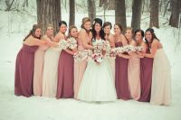 My bridesmaid dress colors from @DavidsBridal (Left to ...