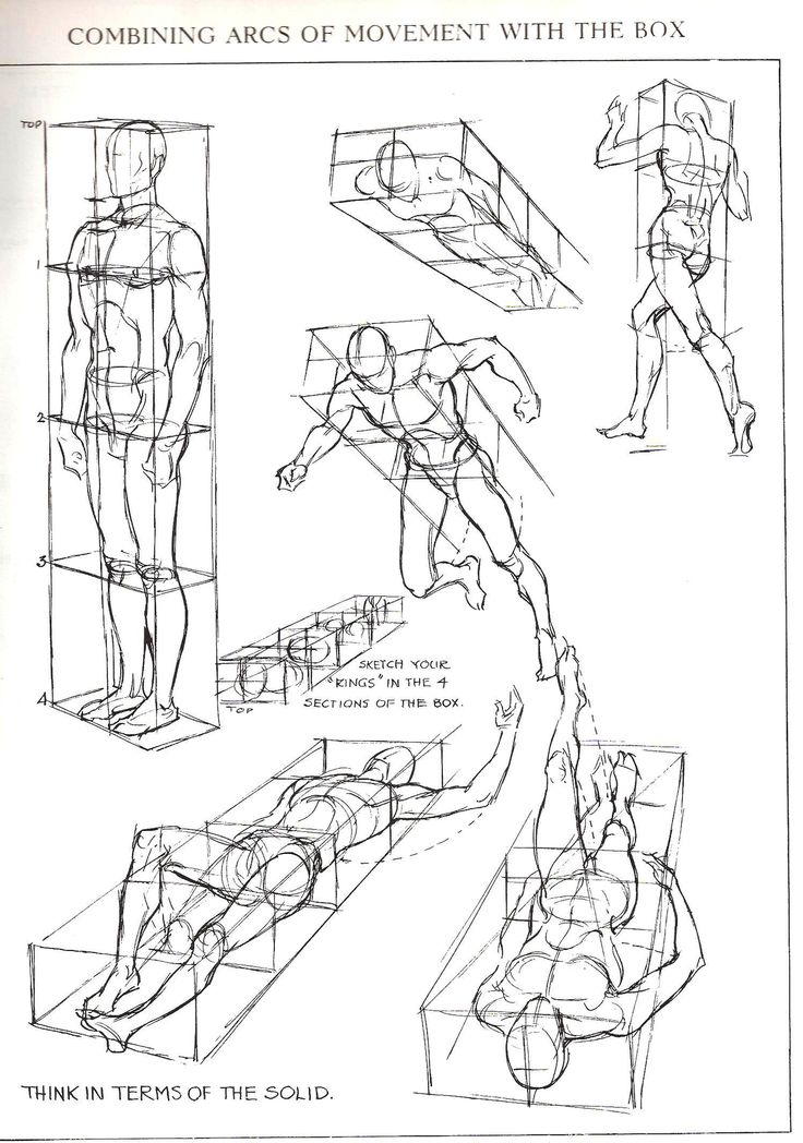 Figures in perspective from Figure Drawing For All It's