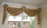 how to make a valance with 2 window panels | nice soft ...
