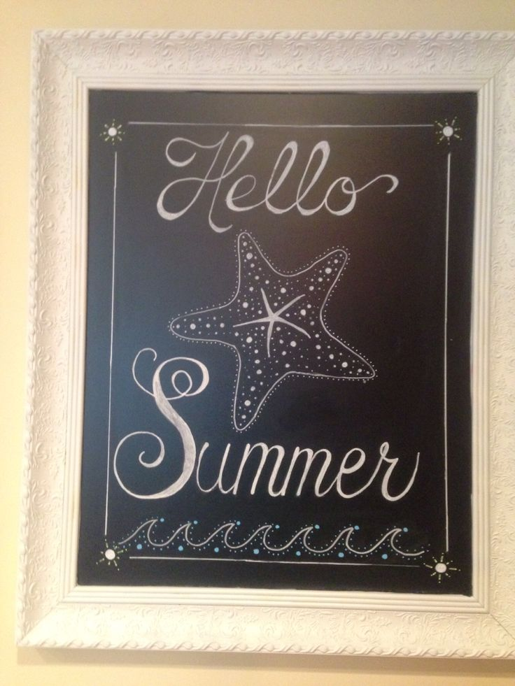 Hello Summer By Me Chalkboard Art Pinterest