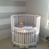 beautiful white round crib