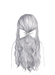 girl hair drawing - google