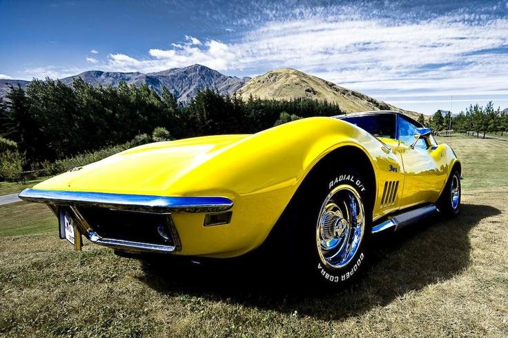 Wallpaper Muscle Cars Free 1969 Daytona Yellow Corvette Stingray Corvettes