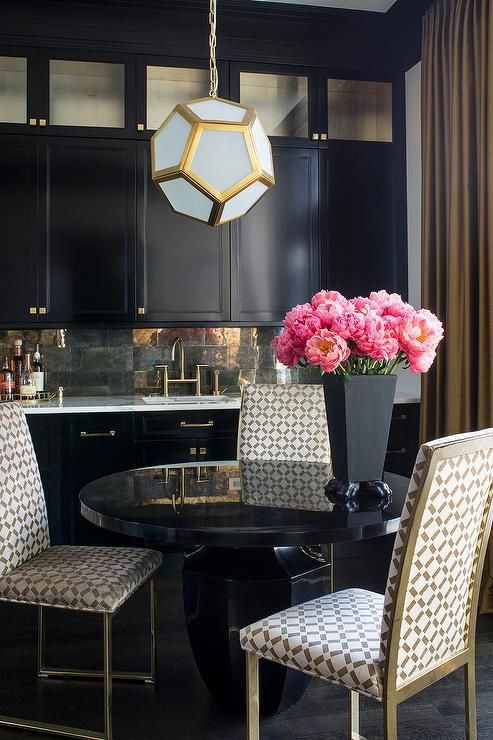 1000 ideas about Gold Dining Rooms on Pinterest  Black