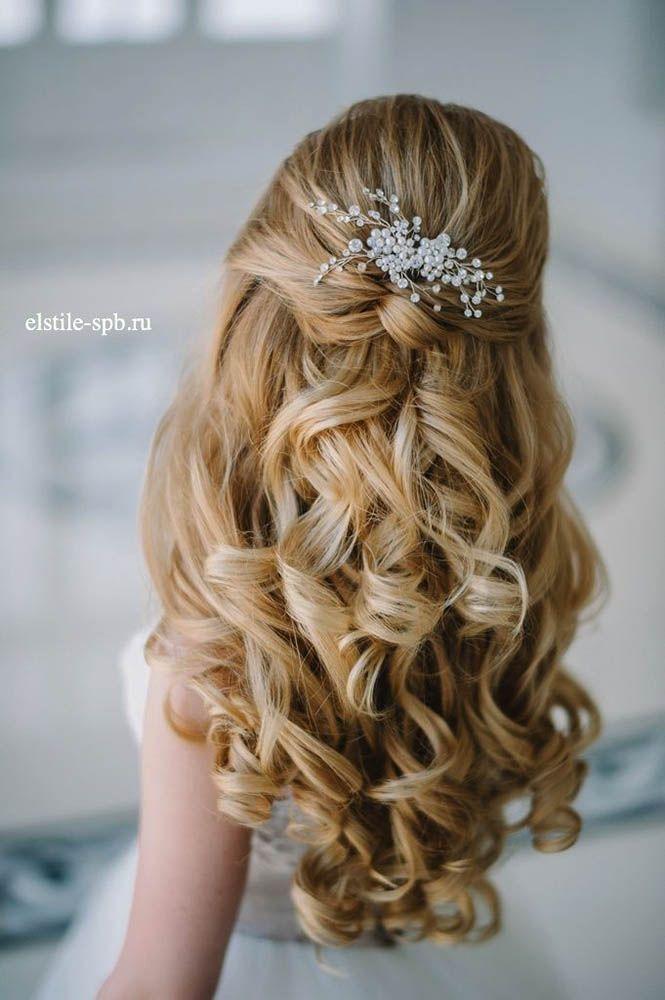 25 Best Ideas About Half Up Wedding Hairstyles On Pinterest