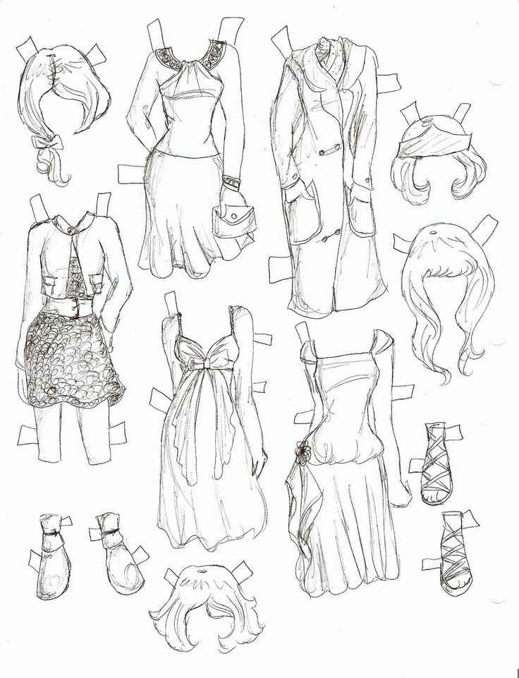 Miss Missy Paper Dolls Lacy Paper Doll Black And White
