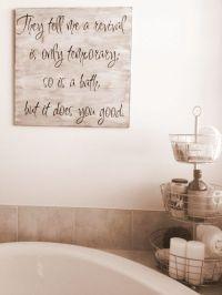 25+ best Bathroom wall quotes on Pinterest | Bathroom wall ...