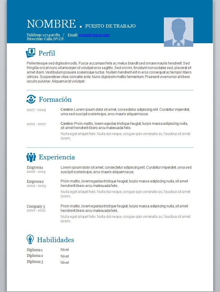 Modelo De Curriculum Vitae Openoffice Modelo De