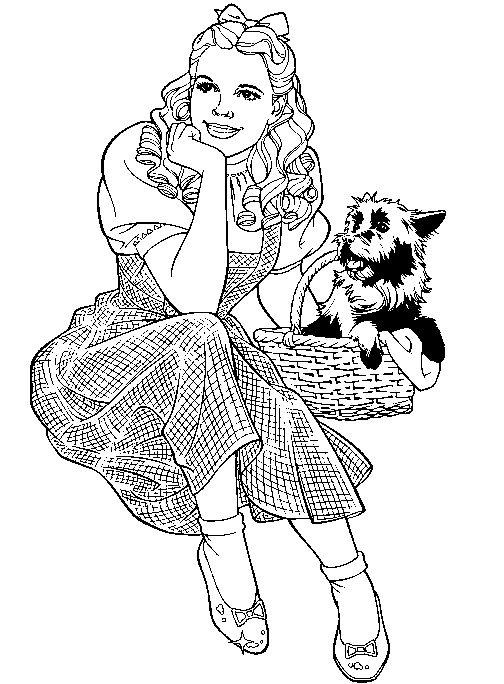 Wizard Of Oz Coloring Pages Wizard-of-oz-coloring-5
