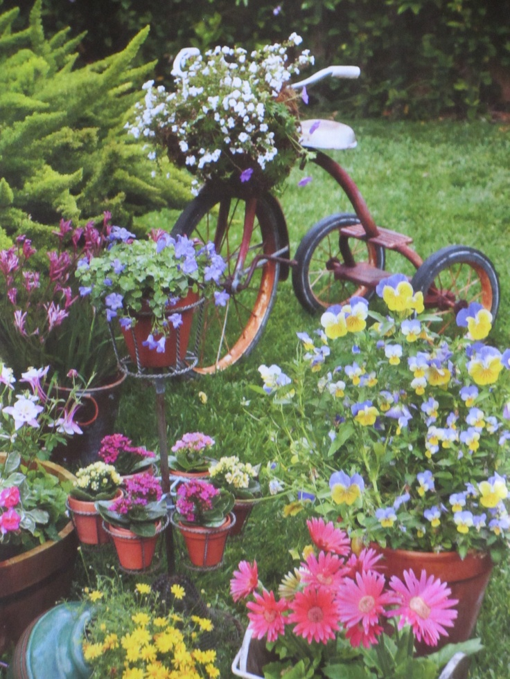 56 Best Images About Tricycle On Pinterest Gardens Planters And