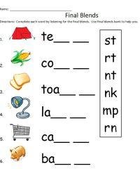 phonics final consonant blends worksheets - Google Search ...