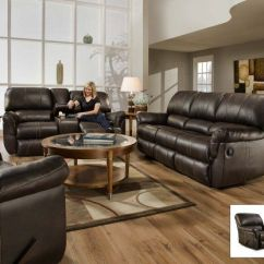 Sofa Warehouse Nyc Used Furniture Best Deal Simmons 50365 Blackjack Brown Leather Theater ...