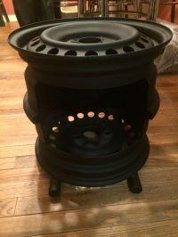 My version of the steel wheel fire pit | welding ...