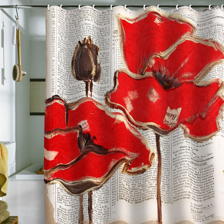 25 Best Ideas About Red Shower Curtains On Pinterest Bathroom