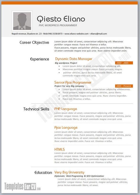 Resume Sample For Job Application Download Resume