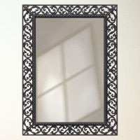 Rustic Wrought Iron - Framed Mirror | borders and frames ...