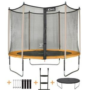 kangui trampoline de jardin cm filet de securite echelle kit dancrage jumpi pop