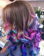 dip dye rainbow ombr hair maryann