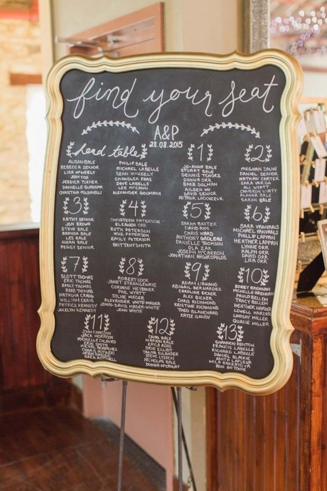 1000 ideas about Chalkboard Seating Charts on Pinterest  Seating Charts Escort Cards and Weddings