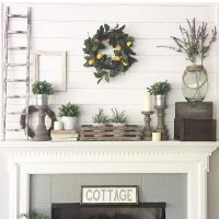 25+ best ideas about Fireplace mantel decorations on