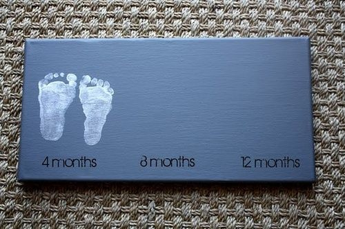 Footprint art. A must do!… Se puede hacer en una cartulina, al rededor se pone una forma de nube y se plastifica todo para hacer