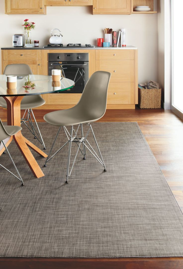 Chilewich Mat Under Dining Table Instead Of Cowhide Rug