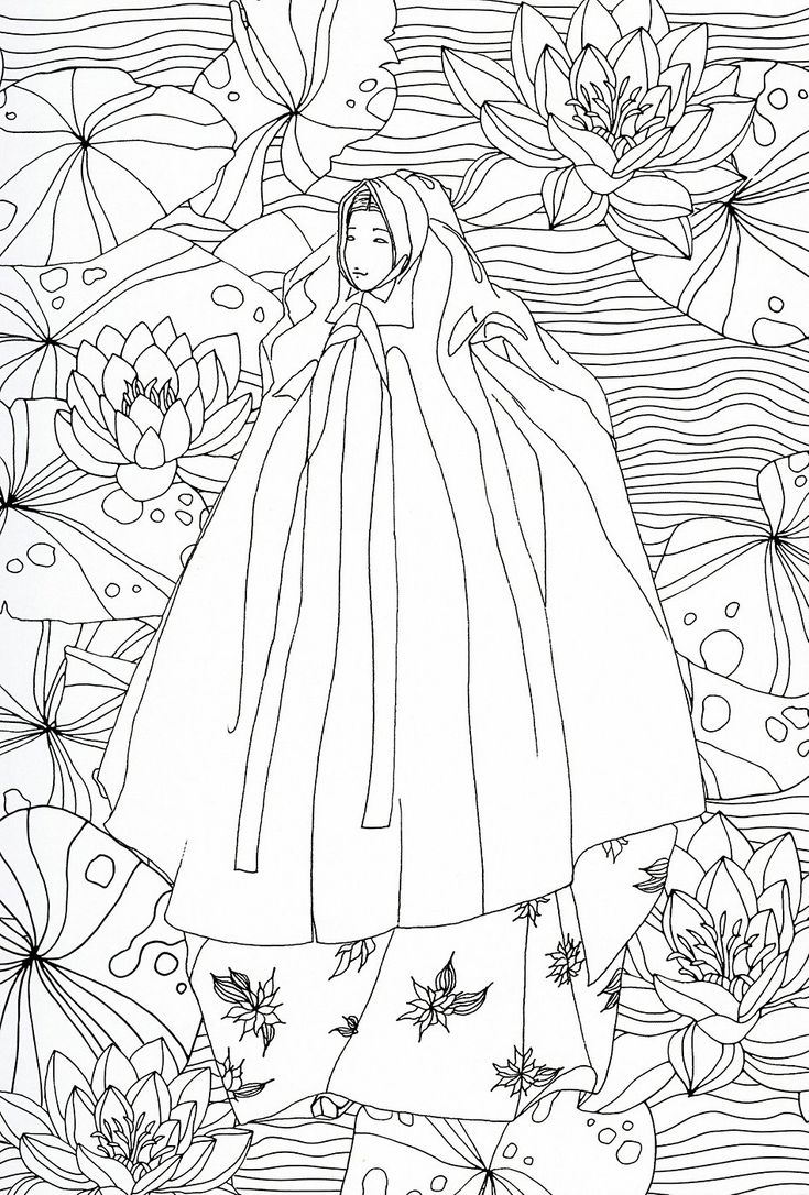 230 best images about Asian Coloring Pages on Pinterest