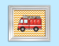 Rescue firetruck, police car ambulance boys wall art, 3 ...