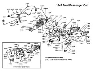 Wiring diagram for 1949 Ford | Wiring | Pinterest | Ford